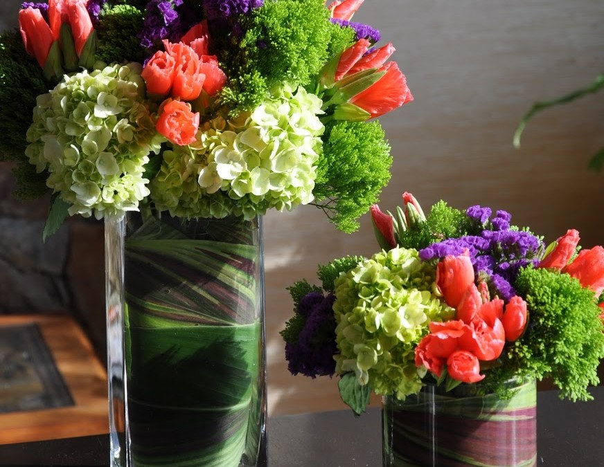 Party Flowers – hydrangea & godetia