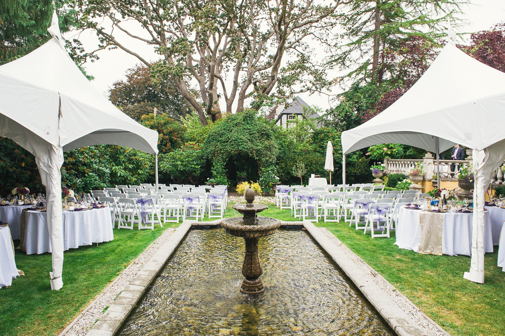 Renting tents turned out to be a wise idea to protect the guests and food from the drizzling rain. & Victoria Summer Wedding u2013 Villa Marco Polo Inn u2013 Tara McHugh